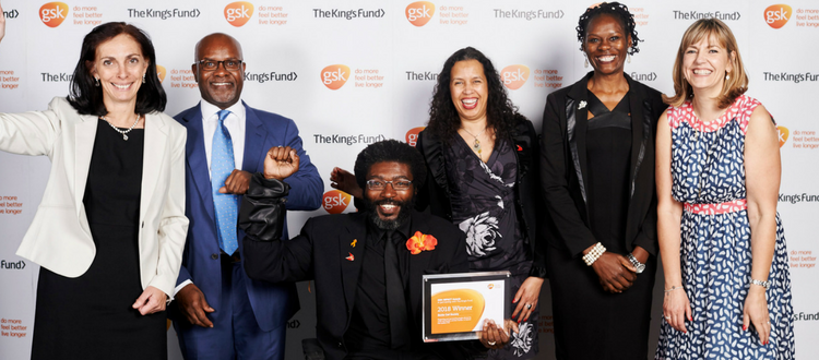 The Sickle Cell Society receiving its award at the GSK IMPACT Awards