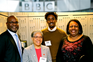 John James, Elizabeth Anionwu, Osama El-Amin and Malorie Blackman