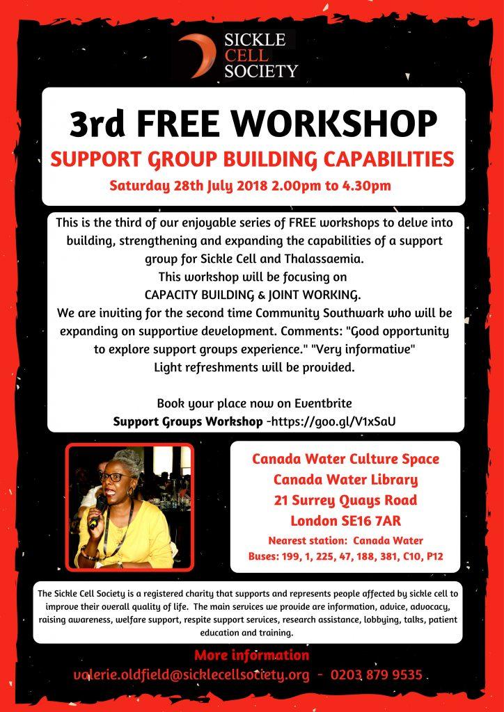 Support Group Workshop Flyer